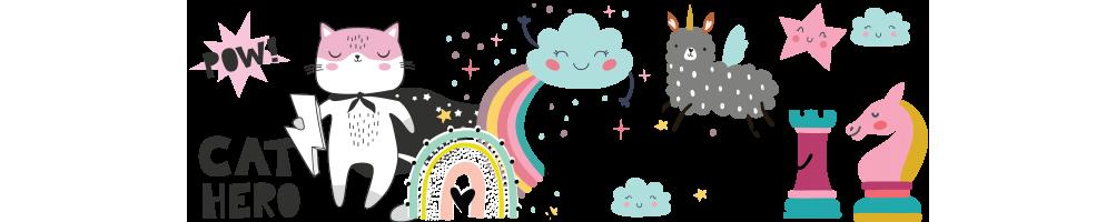 Rainbows,unicornios,superheroes, Fantasía.Complementos bebé