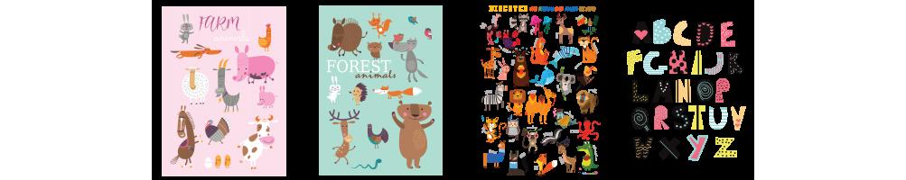 Láminas infantiles alegres y con mucho color para decorar